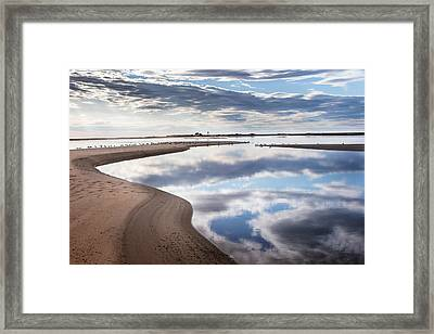 Smooth Water Reflections Framed Print by Bill Wakeley