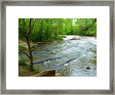 Framed Print featuring the photograph Smooth Waterfall by Pete Trenholm