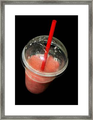 Smoothie Framed Print by Diana Angstadt