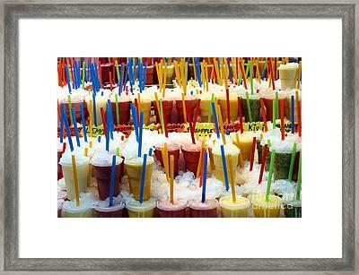 Smoothies Framed Print by Sophie Vigneault