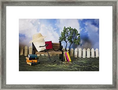 Smore Books Please Framed Print by Heather Applegate
