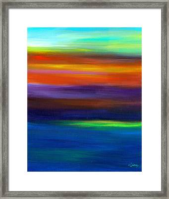 Smudged Sunset Framed Print