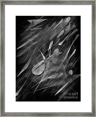 Smudges Framed Print