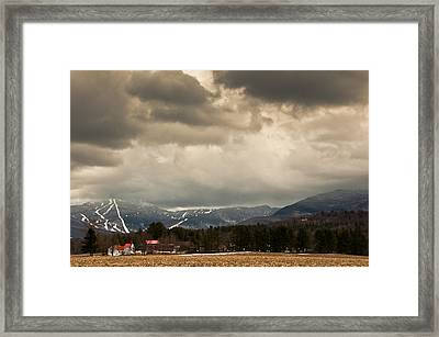 Smuggs Storm Framed Print by Scott Hafer