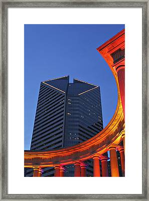 Smurfit-stone Building Behind  Wrigley Framed Print by Axiom Photographic
