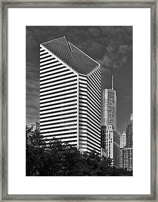 Smurfit-stone Chicago - Now Crain Communications Building Framed Print by Christine Till