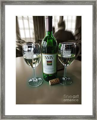 Smv Cayuga White Framed Print