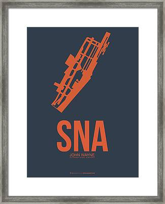 Sna Orange County Airport Poster 1 Framed Print by Naxart Studio