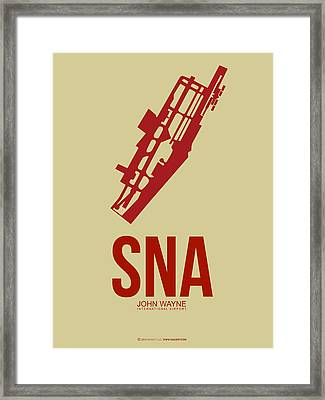 Sna Orange County Airport Poster 2 Framed Print by Naxart Studio
