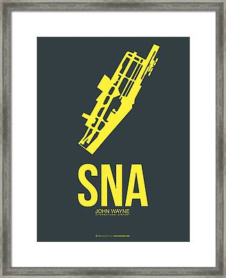 Sna Orange County Airport Poster 3 Framed Print by Naxart Studio