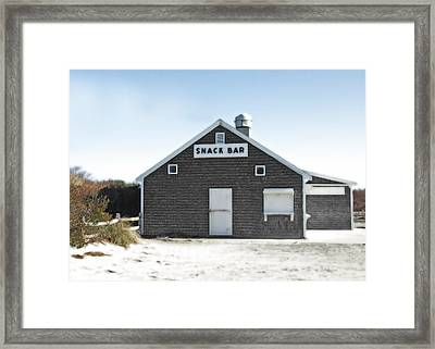 Snack Bar Off-season No. 2 Framed Print by Brooke T Ryan