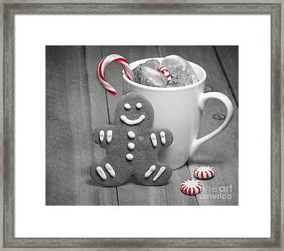 Snack For Santa Framed Print by Juli Scalzi
