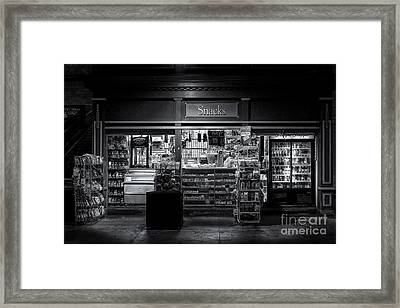 Snack Shop Bw Framed Print by Jerry Fornarotto