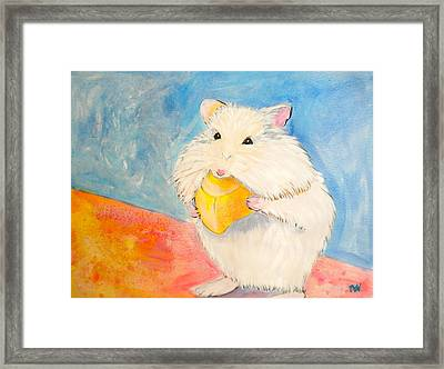 Snack Time Framed Print by Debi Starr