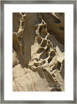 Snadstone Rock Formations In Big Sur Framed Print by Artist and Photographer Laura Wrede