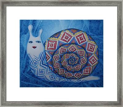 Snail Framed Print by Khromykh Natalia