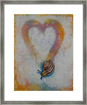 Snail Framed Print by Michael Creese