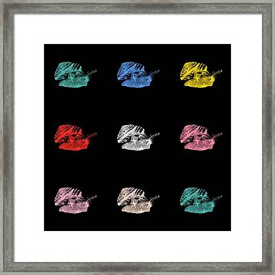 Snails With Star Pattern Framed Print