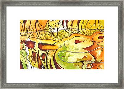Snake In The Grass Framed Print by Renata Wright
