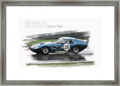 Snake In The Rain Framed Print by Peter Chilelli