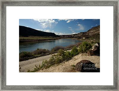 715p Snake River Birds Of Prey Area Framed Print by NightVisions