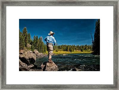 Snake River Cast Framed Print by Ron White