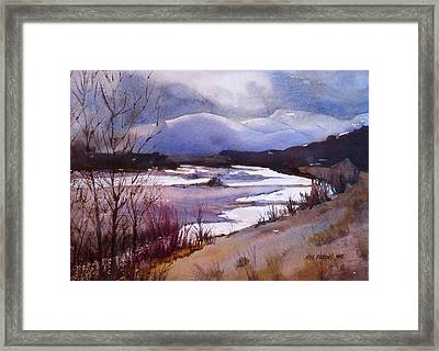 Snake River Looking South Framed Print by Kris Parins