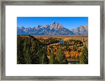 Snake River Overlook Framed Print by Greg Norrell