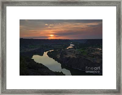 Snake River Sunset Framed Print