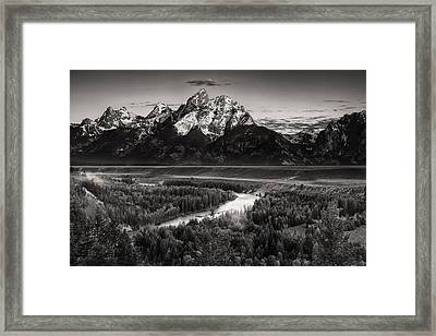 Snake River View Framed Print