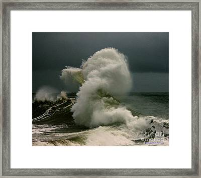 Snake Wave Framed Print by Michael Cinnamond