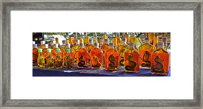 Snake Whiskey Framed Print