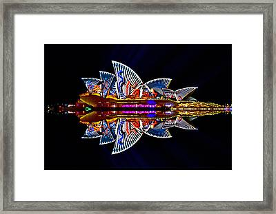 Snakes On The Opera House Framed Print