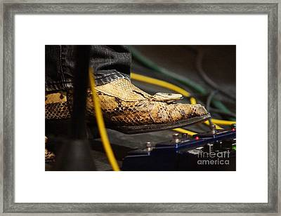 Snakeskin Boot Framed Print by Lynda Dawson-Youngclaus