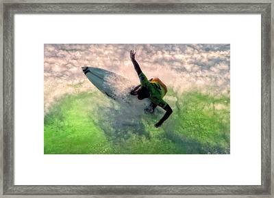 Framed Print featuring the painting Snap Turn by Michael Pickett