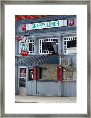 Snappy Lunch Mt. Airy Nc Framed Print by Bob Pardue