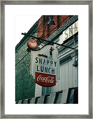 Snappy's Framed Print by Steve Godleski