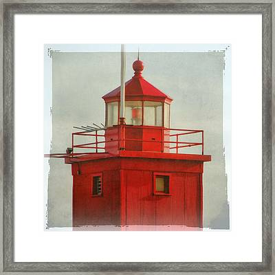 Snapshot Of Red Framed Print by Michelle Calkins