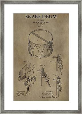Snare Drum Patent Framed Print by Dan Sproul