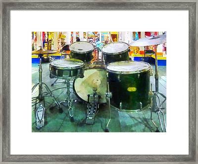 Snare Drum Set Framed Print by Susan Savad