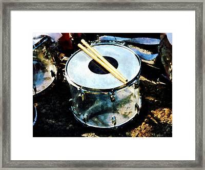 Snare Drum Framed Print by Susan Savad