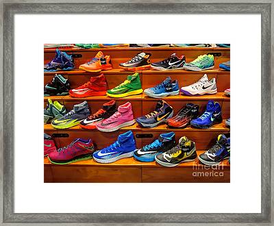 Sneakers Framed Print by Jeff Breiman