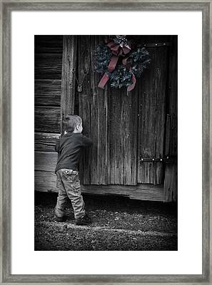 Sneaking A Peek Framed Print