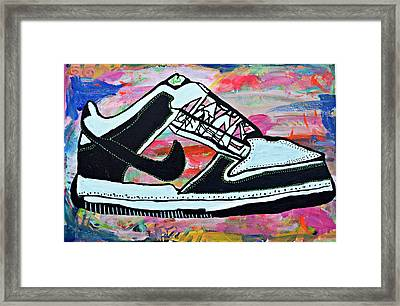 Sneaks Framed Print by Nicole Gavin