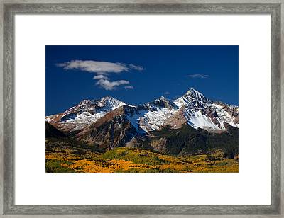 Sneffels Clearing  Framed Print by Darren  White