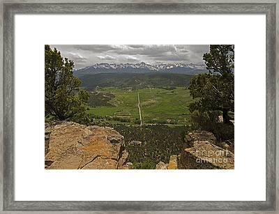 Sneffels Range Framed Print