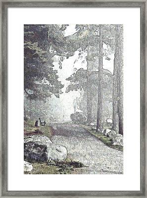 Snicket Fog Framed Print