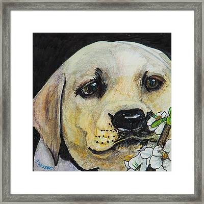 Sniff The Flowers Framed Print by Roger Wedegis