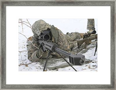 Snipers Provide Overwatch At Fort Framed Print by Stocktrek Images