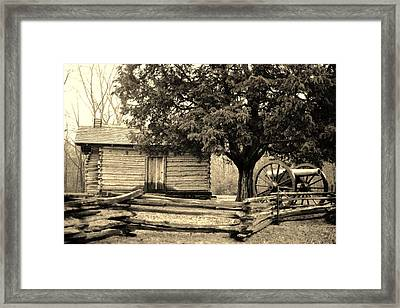 Snodgrass Cabin And Cannon Framed Print
